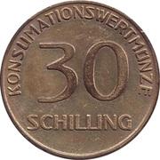 30 Schilling - Apricot – reverse