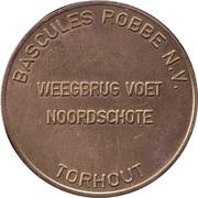 Token - Bascules Robbe N.V. – reverse