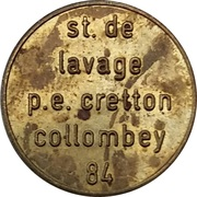 Car Wash Token - Cretton (Collombey) – obverse