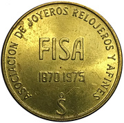 Token - Association of jewelers, watchmakers (FISA 75) – reverse