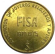 Token - Association of jewelers, watchmakers (FISA 75) – reverse
