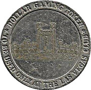 1 Dollar Gaming Token - Las Vegas Club – reverse