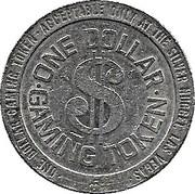 1 Dollar Gaming Token - Silver Nugget Casino (Las Vegas) – reverse