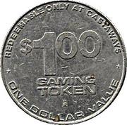 1 Dollar Gaming Token - Castaways Hotel (Las Vegas, Nevada) – reverse