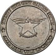25 Cent Gaming Token - Gold Star Casino – obverse