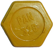 Token - PAN 328 (hexagonal; narrow letter) – obverse