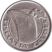 25 Cent Gaming Token - Discovery Cruises – obverse