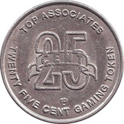 25 Cent Gaming Token - Discovery Cruises – reverse