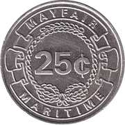 25 Cents - Mayfair Maritime (Queen Elizabeth 2) – reverse
