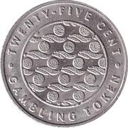 25 Cent Gambling Token - Orient Lines – reverse