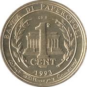 1 Cent - Zio Paperone – reverse