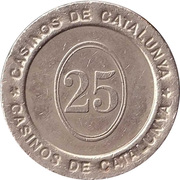 25 Pesetas - Casinos de Catalunya – reverse