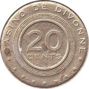 20 Cents - Casino de Divonne – reverse