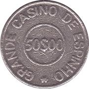 50 Escudos - Grande Casino de Espinho – reverse