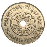 1 Fare - Watertown-Suburban Black River Traction Company – reverse