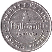 25 Cent Gaming Token - Casino Hollywood (St. Maarten) – obverse