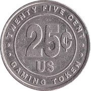 25 Cent Gaming Token - Casino Hollywood (St. Maarten) – reverse
