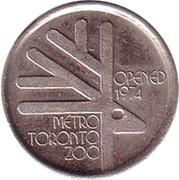 Token - Metro Toronto Zoo (Nine Banded Armadillo) – reverse