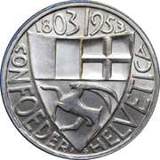 Medallion - Kanton Graubünden 150th Anniversary – reverse