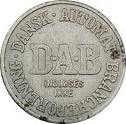 Vending Machine Token - DAB (Dansk Automat Brancheforening; Magnetic) – reverse