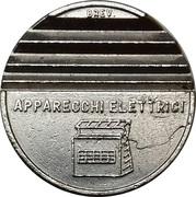 Token - Brev. Gettone Apparecchi Elettrici (25 mm) – reverse
