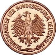 Token - Bundeskanzler der Bundesrepublik Deutschland (Kurt Georg Kiesinger) – reverse