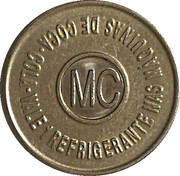 Vending Machine Token - Coca-Cola (MC - Maceió) – reverse