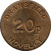 20 Pence - Dransfield Novelty – obverse