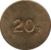 20 Pence - Dransfield Novelty – reverse