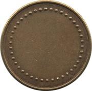 Coffee Machine Token (Blank with 42 beads and triangular mintmark; 21 mm) – reverse
