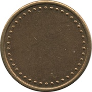 Coffee Machine Token (Blank with 42 beads; 21 mm) – reverse