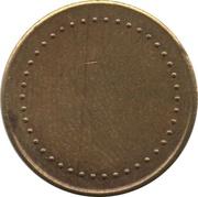 Coffee Machine Token (Kraft with 42 beads and triangular mintmark; 21 mm) – reverse