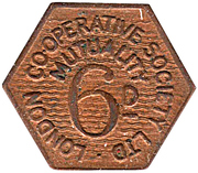 6 Pence - London Cooperative Society LTD – obverse