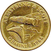 Shell Token - Man In Flight (Armstrong and Scott) – obverse