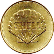 Shell Token - Man in Flight (#19 - Borman, Lovell & Anders, Apollo 8, 1968) – reverse