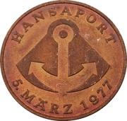 Token - Hansaport 1977 – reverse