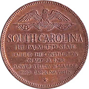 Token - Shell's States of the Union Coin Game, Version 1 - Bronze Collector's Coin Set (South Carolina) – reverse