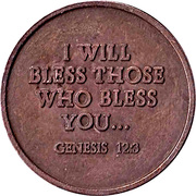 Token - I Will Bless Those Who Bless You... – obverse