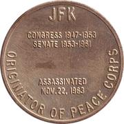 Token - John F. Kennedy (35th President) – reverse