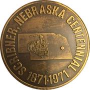 Token - Centennial Scribner, Nebraska – obverse