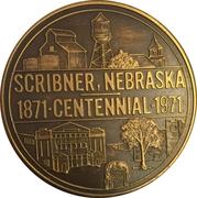 Token - Centennial Scribner, Nebraska – reverse