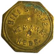 10 Cents - Bill's Cafe (Nemaha, NE) – obverse