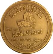 Token - Nebraska Centennial – obverse