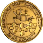 Token - America's 400th Anniversary (Dare County, NC) – obverse