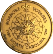 Token - America's 400th Anniversary (Dare County, NC) – reverse
