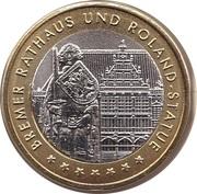 Token - Bundesländersatz Bremen (Bremer Rathaus und Roland-Statue) – obverse