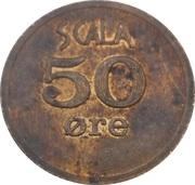 50 Øre - Scala Spilleland – reverse