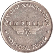 50 Cent Gaming Token - Empress River Casino (Joliet, Illinois) – obverse
