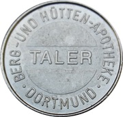 1 Taler - Berg und Hütten Apotheke (Dortmund) – obverse