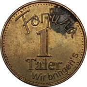 1 Taler - Fortuna Apotheke (Ratingen-West) – reverse
